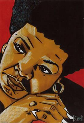 Ancestor Art Mixed Media - Tribute To Maya Angelou by Boze Riley