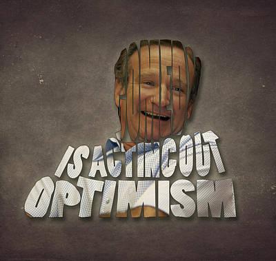 Robin Williams Painting - Tribute To Robin Williams Typography by Georgeta Blanaru