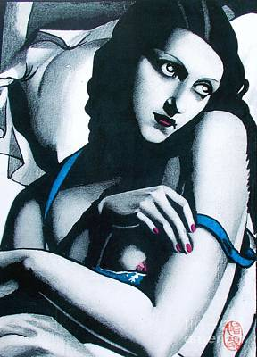 Convalescent Painting - Tribute To Tamara Lempicka 2 by Roberto Prusso