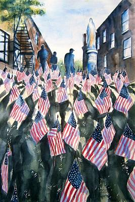 Army Air Service Painting - Tribute To The Fallen by Brian Degnon