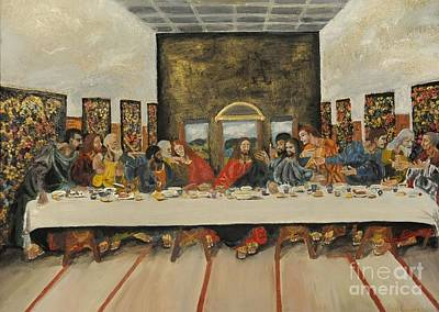 Tribute To The Last Supper Art Print by Visual  Renegade Art