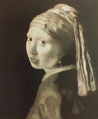 Tribute To Vermeer Homenaje A Jan Vermeer Art Print by Fernando A Hernandez