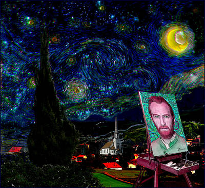 Provence Drawing - Tribute To Vincent Van Gogh - His View In Saint Remy De Provence by Jose A Gonzalez Jr