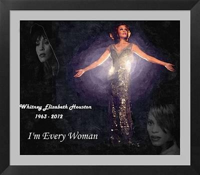 Digital Art - Tribute To Whitney Houston I'm Every Woman by Davandra Cribbie