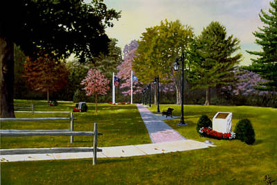 Art Print featuring the painting Tribute Walkway by Rick Fitzsimons