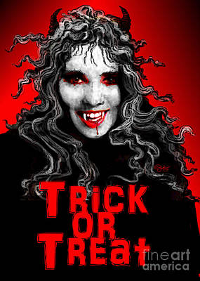 Digital Art - Trick Or Treat by Carol Jacobs