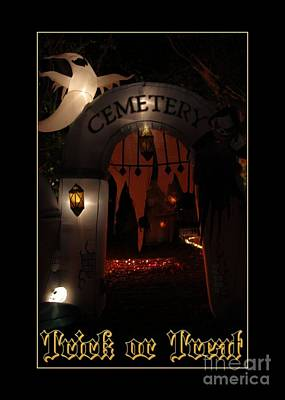 Digital Art - Trick Or Treat Cemetery by JH Designs