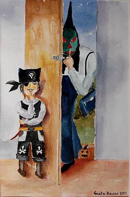 Painting - Trick-or-treat by Geeta Biswas