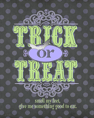 Trick Painting - Trick Or Treat by Jo Moulton