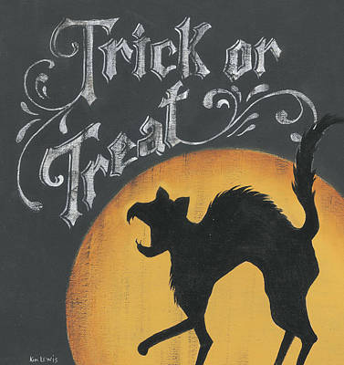 Painting - Trick Or Treat by Kim Lewis