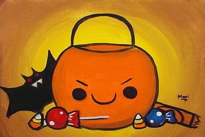 Painting - Trick Or Treat by Marisela Mungia