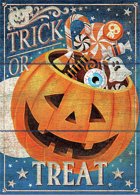 Trick Painting - Trick Or Treat by P.s. Art Studios