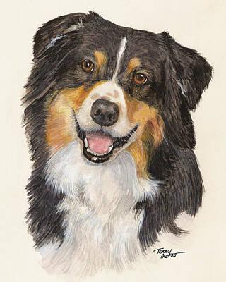 Tricolor Australian Shepherd Art Print