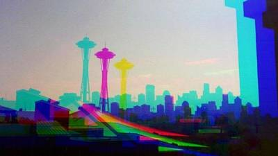 Tricolor Seattle Space Needle Original