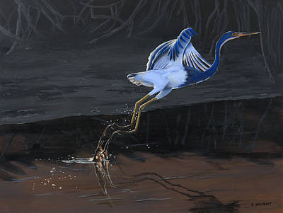 Painting - Tricolored Heron by Kirsten Wahlquist