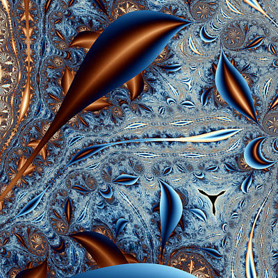 Abstract Digital Digital Art - Tricorn In A Strange Land No. 2 by Mark Eggleston