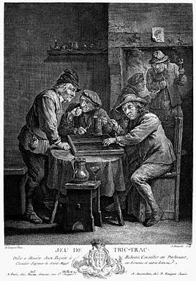 Backgammon Photograph - Trictrac, 17th Century by Granger