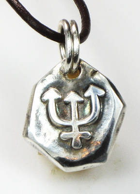 Jewelry - Trident Nautical Seeker Of Truth Fine Silver Talisman by Vagabond Folk Art - Virginia Vivier