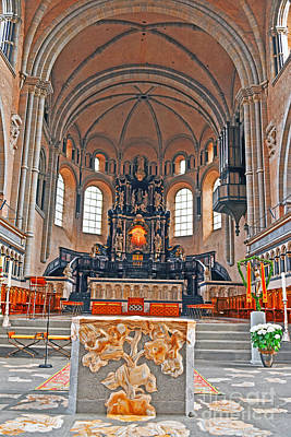 Photograph - Trier Cathedral Altar by Elvis Vaughn