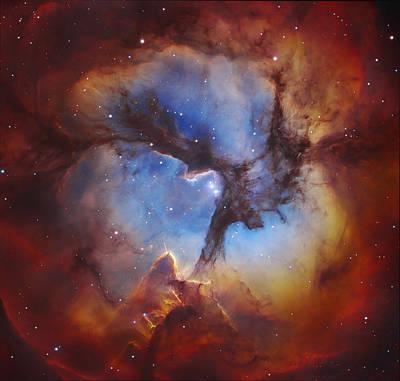 Trifid Nebula Art Print by Celestial Images