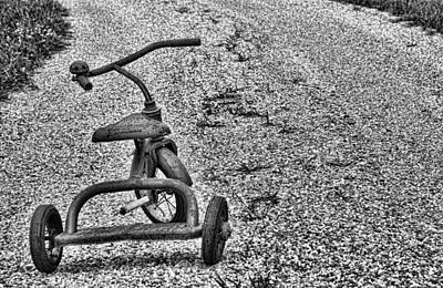 Photograph - Trike In Black And White by John Crothers