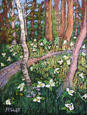Painting - Trillium At The Ridges  by Madonna Siles
