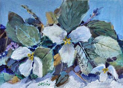 Painting - Trillium by Diane Ursin