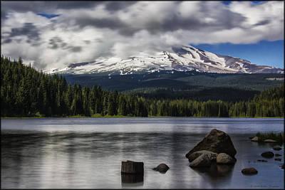Photograph - Trillium Lake by Erika Fawcett