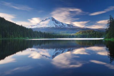 Royalty-Free and Rights-Managed Images - Trillium Lake Escape by Darren White