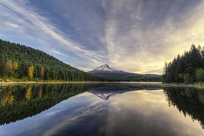 Photograph - Trillium Lake by Mark Kiver