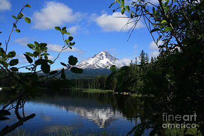Photograph - Trillium Lake With Mt. Hood  by Ian Donley
