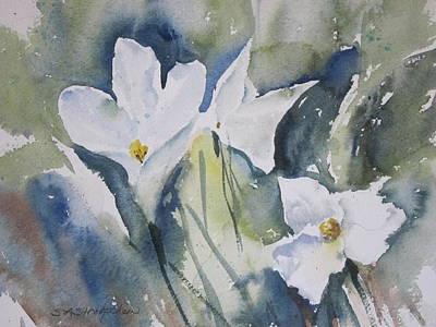 Painting - Trillium by Sandra Strohschein