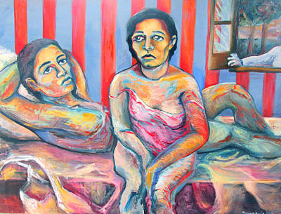 Painting - Trilogy Of Lovers by Raquel Sarangello