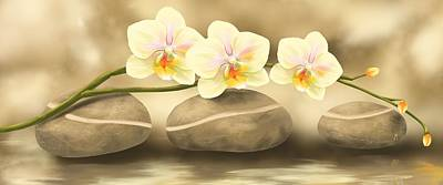 Orchid Art Painting - Trilogy by Veronica Minozzi