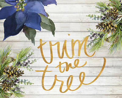 The Trees Digital Art - Trim The Tree by Lanie Loreth