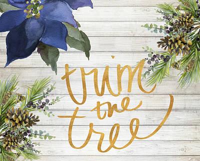 Trim The Tree Art Print