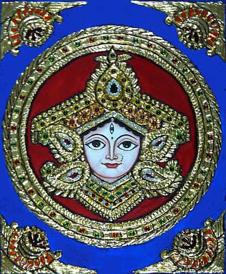 trinetra Durgaji Art Print by Vimala Jajoo