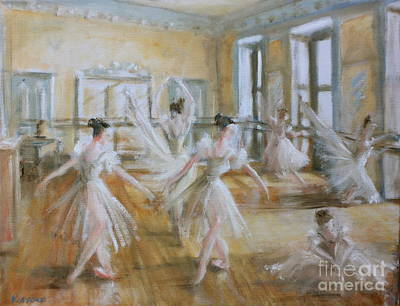 Painting - Tring Park The Ballet Room by Yvonne Ayoub