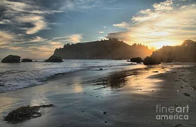 Photograph - Trinidad Beach Reflections by Adam Jewell