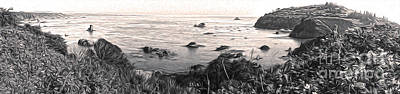 Painting - Trinidad California - Bay Veiw - Sepia Tone by Gregory Dyer