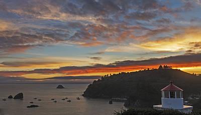 Photograph - Trinidad Harbor Sunset by Loree Johnson