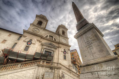 Photograph - Trinita Dei Monti Church by Yhun Suarez