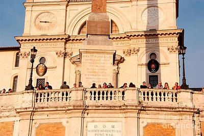 Photograph - Trinita Dei Monti In Rome by George Atsametakis