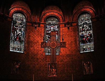 Photograph - Trinity Church Altar 1 by Michael Saunders
