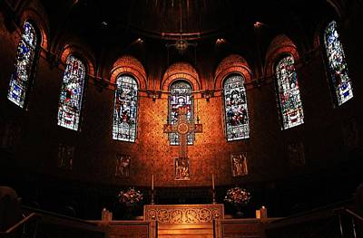 Photograph - Trinity Church Altar 2 by Michael Saunders