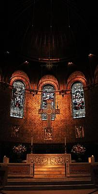 Photograph - Trinity Church Altar 3 by Michael Saunders