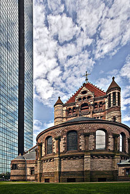 Bean Town Photograph - Trinity Church Copley Square by Marcia Colelli