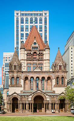 Photograph - Trinity Church In Boston by Boris Mordukhayev