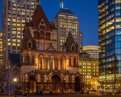 Photograph - Trinity Church In Copley Square by Susan Cole Kelly
