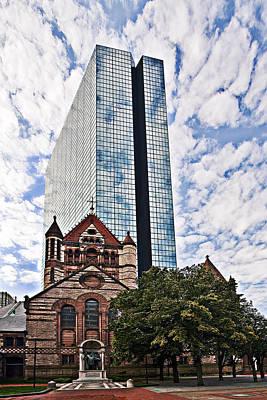 Bean Town Photograph - Trinity Church Of Boston by Marcia Colelli